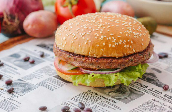 Вегетарианский фреш бургер