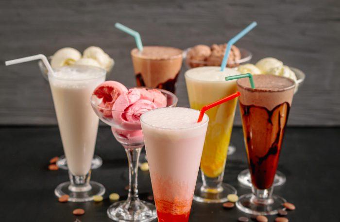 Бананово-ванильный молочный коктейль
